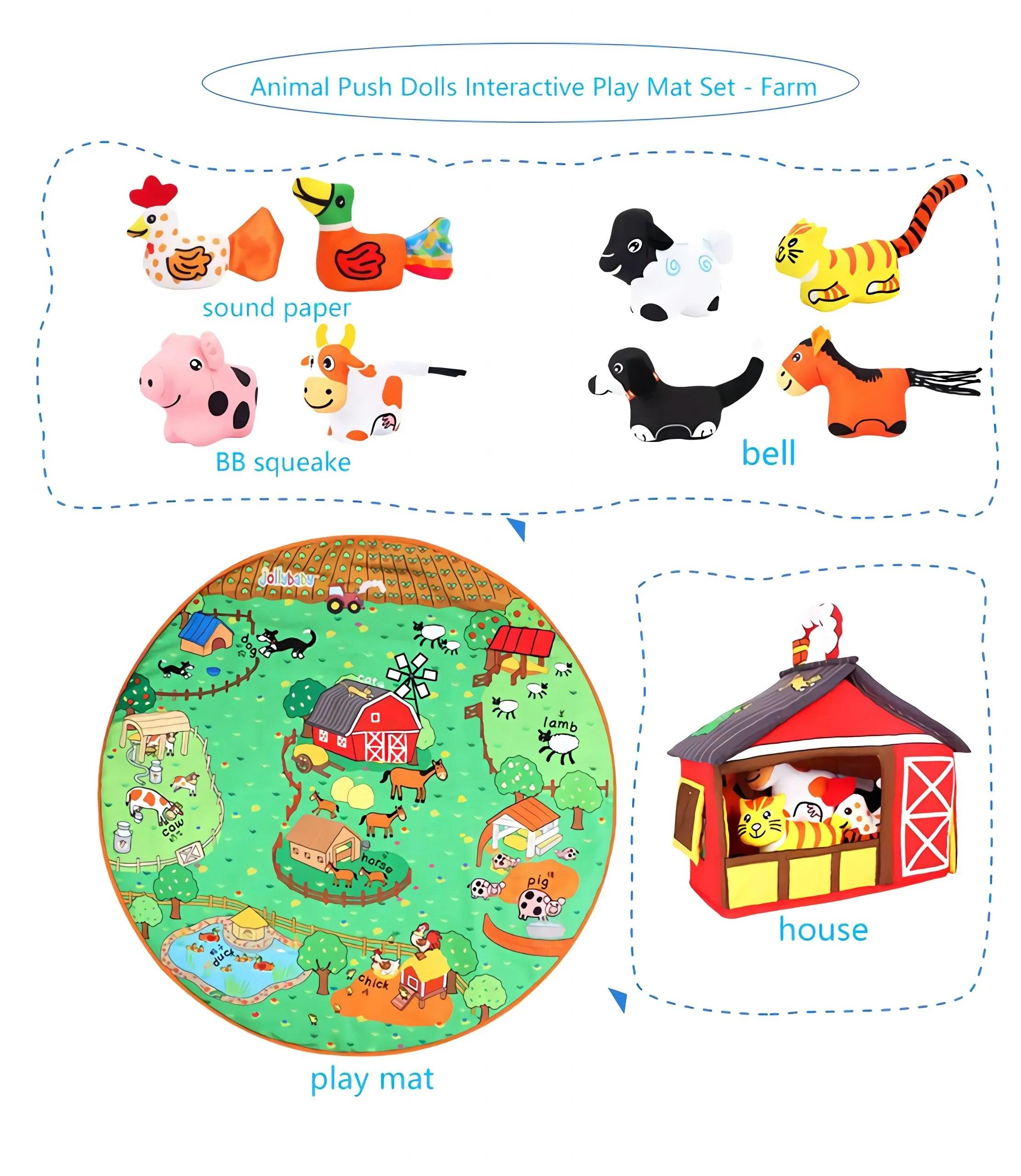Baby Play Mat Set (Farm)