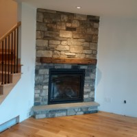 Rustic Barn Wood Non-Combustible Mantel   Hechlers ...