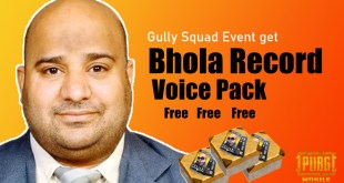 Bhola record voice pack in PUBG mobile event