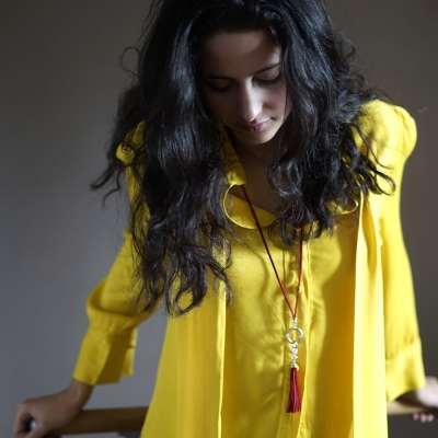 collier pour femme pélican porté