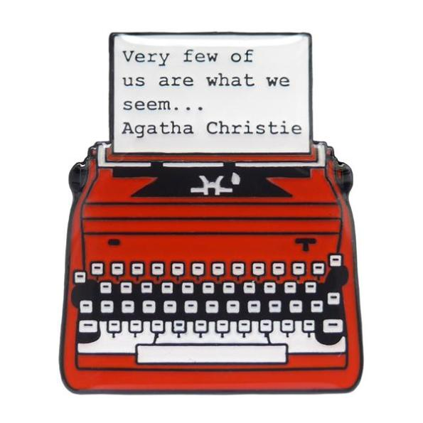 Hedda House Gift Guide // Agatha Christie Quote enamel badge/pin.