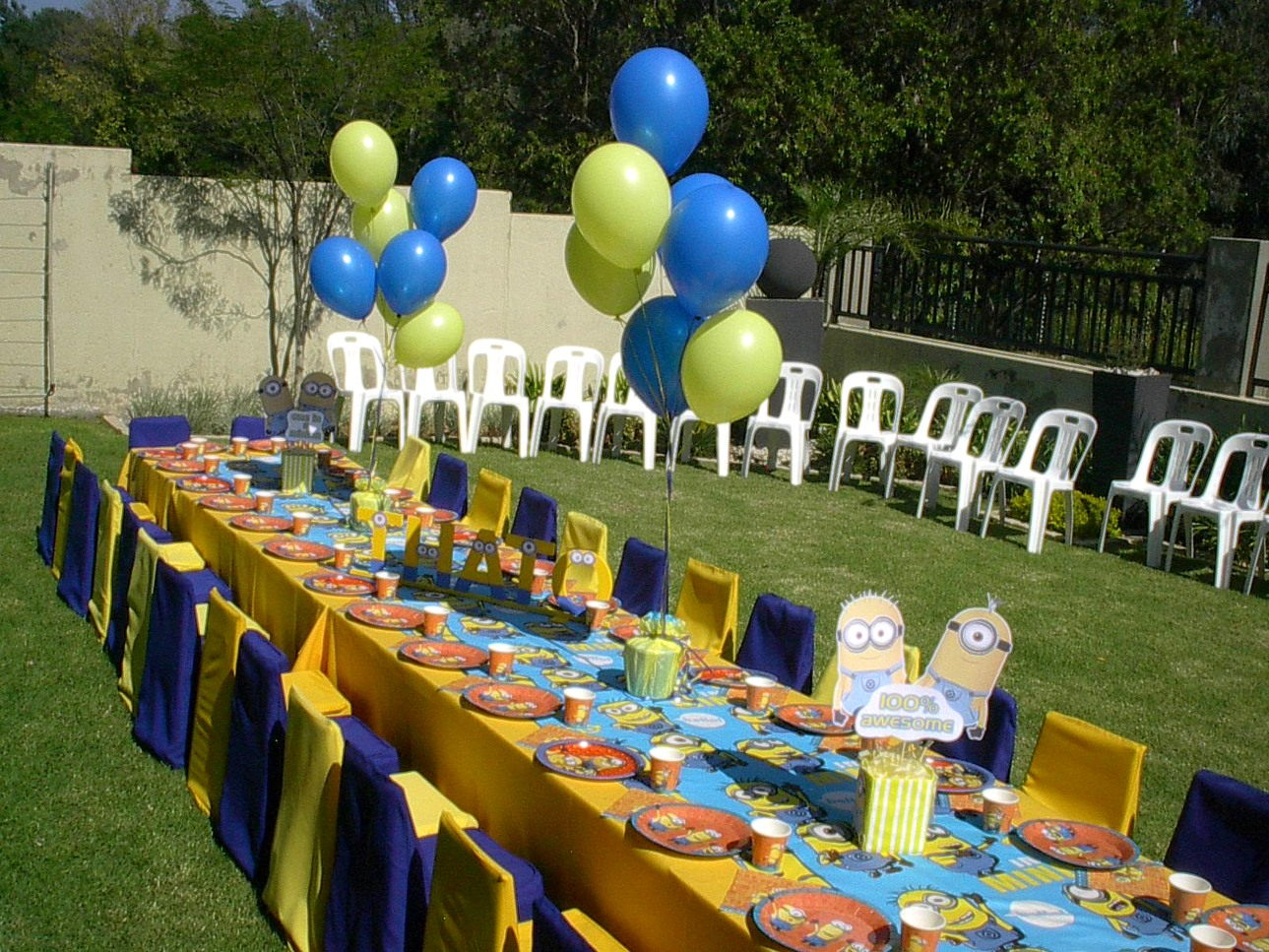 Minions Sweet Table and Decor  Hedgehog LaneThemed Party