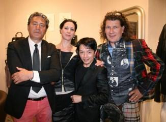 GIOIA opening: Gianni Spampinato, Elisa Worschitz, La Hong, Thomas Rettl (Foto Christina Dow)