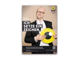 """Bernd Pürcher von art + event """"Ich setze ein Zeichen"""" (Foto Florian Lierzer)"""