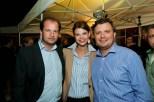 Gastronomen Paar Gregor Guggemos und Kathi Paar mit Christof Widakovich (Foto Werner Krug)