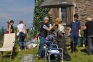 Bei den Dreharbeiten am Labitschberg/Gamlitz (Foto Reinhard Sudy)