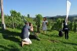 Wunderbares Shooting-Wetter inmitten der Weinberge des Weingutes Reinhard Muster (Foto Reinhard Sudy)