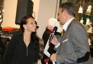 Tanja Edegger im Gespräch mit Moderator Dorian Steidl (Foto Christina Dow)