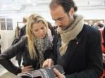Konzentriert auf den Berliner Mode-Messen (Foto Hedi Grager)
