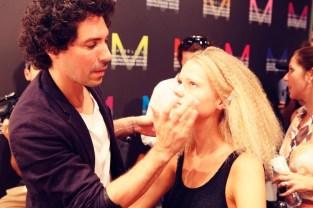 Backstage bei Marc Cain auf der Mercedes Benz Fashion Week im Sommer 2015