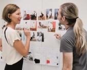 Eva Lutz in ihrem Atelier (Foto MINX by Eva Lutz)