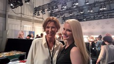 Designerin Eva Lutz und Mirja DuMont