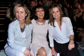 Bettina Cramer; Miriam Pielhau; Kim Fisher - Mercedes Benz Fashion Week Berlin / Show MINX by Eva Lutz (Foto SuccoMedia / Ralf Succo)