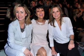 Bettina Cramer; Miriam Pielhau; Kim Fisher - Mercedes Benz Fashion Week Berlin / Show MINX by Eva Lutz (Foto SuccoMedia / Ralf Succo)