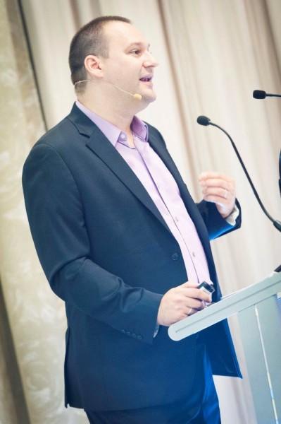 Christian Kurz als Sprecher auf der EuroSummit'15 (Foto beigestellt)