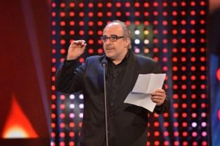 Romy 2016: Michael Niavarani hielt die Laudatio für Platin-Romy-Gewinner Otto Schenk (Foto Kurier)