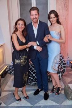 Roberta Manganelli, Daniel Serafin und Anelia Peschev beim ELITE Model Look 2016 (Foto Starpix / Alexander Tuma)