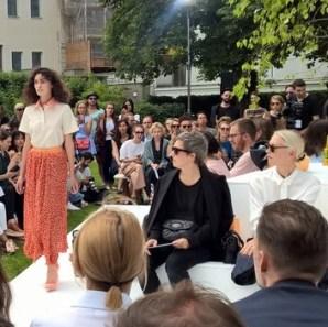 Designerin Marina Hoermanseder - Mercedes Benz Fashion Week Berlin (Foto Hedi Grager)