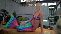 """Meerjungfrau Elli - Soroptimist Club Goldes - Charity zugunsten des Projektes """"Hautkrebs in der Schwangerschaft"""" am Ankerpunkt (Foto Hedi Grager)"""