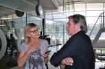 Hedi Grager im Interview mit Stefan Jürgens (Foto Reinhard Sudy)
