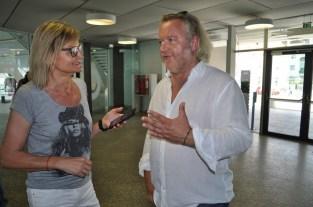 Hedi Grager im Gespräch mit Gregor Seberg (Foto Reinhard Sudy)