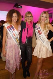 Vize Miss Steiermark Allegra Bell, Journalistin Hedi Grager und Miss Austria Dragana Stankovic bei der Kalenderpräsentation im Schloss Hartberg (Foto powersisters.at)