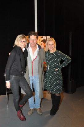 Landkrimi-Präsentation im ORF-Center Wien: Hedi Grager, Gregor Bloeb und Katharina Straßer (Foto Reinhard Sudy)
