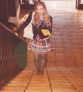 Musikerin und Schauspielerin Dalal Bruchmann modelt für die Designerin Chris Barreto