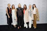 BERLIN, GERMANY - JANUARY 17: Fashion Blogger Caro Daur, Tatjana Catic, Lisa Hahnbueck, Vicky Heiler, Kathrin Gelinsky and Merna Hermez attends the Marc Cain fashion show A/W 2017 at Deutsche Telekom representation on January 17, 2017 in Berlin, Germany. (Photo by Franziska Krug/Getty Images for Marc Cain) *** Local Caption *** Caro Daur, Tatjana Catic, Lisa Hahnbueck, Vicky Heiler, Kathrin Gelinsky, Merna Hermez