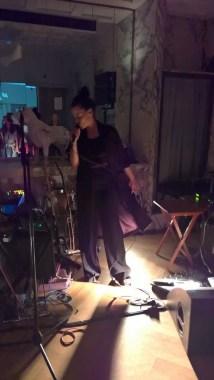 Sängerin und Schauspielerin Edita Malovcic performte bei der Eröffnung des Loos Salons (Foto Hedi Grager)