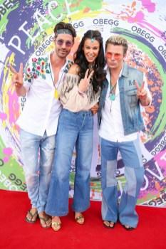 Top-Model Kerstin Lechner mit Michael Lameraner und Adi Weiss - OBEGG Sommerfest von Adi Weiss und Michael Lameraner (Foto Moni Fellner)
