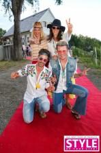 Schauspielerin Sonja Kirchberger, ORF-Star Vera Russwurm mit Michael Lameraner und Adi Weiss - OBEGG Sommerfest von Adi Weiss und Michael Lameraner (Foto Moni Fellner)