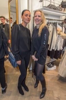 Karl Lagerfeld Store Opening in Wien: Nina Proll, Edita Malovcic (Foto Andreas Tischler)