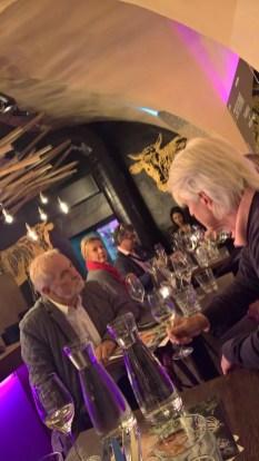 Präsentation der Sting-Weine im el Gaucho Graz - Autor Dr. Reinhard Sudy (re) (Foto Hedi Grager)