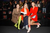 BERLIN, GERMANY - JANUARY 16: Nina Suess, Caro Daur and Stefanie Giesinger during the Marc Cain Fashion Show Berlin Autumn/Winter 2018 at metro station Potsdamer Platz on January 16, 2018 in Berlin, Germany. (Photo by Franziska Krug/Getty Images for Marc Cain)