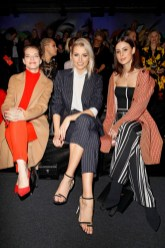 BERLIN, GERMANY - JANUARY 16: Yvonne Catterfeld, Lena Gercke and Lena Meyer-Landrut during the Marc Cain Fashion Show Berlin Autumn/Winter 2018 at metro station Potsdamer Platz on January 16, 2018 in Berlin, Germany. (Photo by Franziska Krug/Getty Images for Marc Cain)