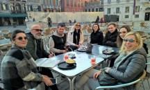 Venedig: Maggie Mac, Klaus Koiner, Mathias Kniepeiss, Hedi Grager, Susanna Hassler, Philipp Schulz, Lauren Klocker und Bettina Dreissger (Foto Reinhard Sudy)