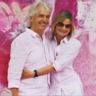 Autor Reinhard Sudy und Journalistin und Bloggerin Hedi Grager - pink&white Event am Gut Pössnitzberg (Foto privat)