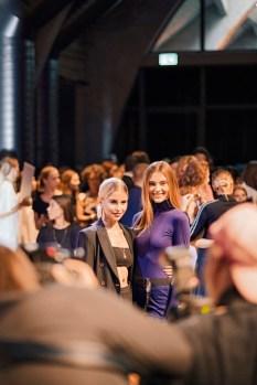 Marc Cain Show - Frühjahr/Sommer Kollektion 2019 - Caro Daur und Stefanie Giesinger (Photo by Gisela Schober/Getty Images for Marc Cain)