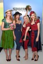 BERLIN, GERMANY - JULY 04: Silvia Schneider poses with models at the Sportalm Kitzbuehel show during the Berlin Fashion Week Spring/Summer 2019 at ewerk on July 4, 2018 in Berlin, Germany. (Photo by Matthias Nareyek/Getty Images for MBFW) *** Local Caption *** Silvia Schneider