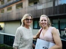 Sommerfest OBEGG - Best of Südsteiermark und LOISIUM - Hedi Grager und Schauspielerin Nina Proll (Foto privat)