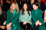 Marc Cain Fashion Show Berlin - Frauke Ludowig, Yvonne Catterfeld und Hannah Herzsprung (Photo by Franziska Krug/Getty Images for Marc Cain)