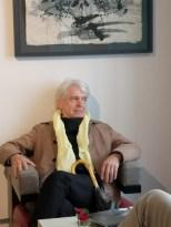 Ausstellung in der Rudolf Budja Galerie Salzburg - Autor Dr. Reinhard A. Sudy (Foto Hedi Grager)