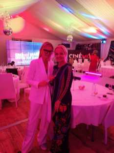 CINÉMOI 'STARS UNITED FOR GOOD' GALA in Cannes - Hedi Grager und Susanne Baumann-Cox (Photo Hedi Grager)