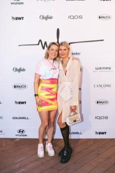 Marina Hoermanseder Show während der Berlin Fashion Week - Marina Hoermanseder und Nina Sieber (Foto Paul Aden Perry)