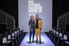 MQVFW 2019: CALLISTI Fashion Show - Martina Mueller CALLISTI mit ihrem Freund (Freund Christoph Tauber Romieri (Foto Thomas Lerch)