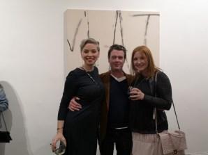 Ausstellung des Künstlers Alessandro Painsi in Los Angeles. Anne Avramut, Johnny und Nicole Muj (Photo Reinhard Sudy)