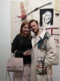 Ausstellung des Künstlers Alessandro Painsi in Los Angeles. Nicole Muj mit Alessandro Painsi (Photo Reinhard Sudy)