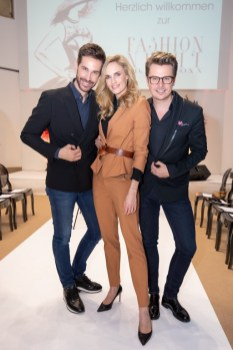 BRANDBOXX & STYLE UP YOUR LIFE! Fashion Night: Michael Lameraner, Patricia Kaiser und Adi Weiss (Foto Moni Fellner)