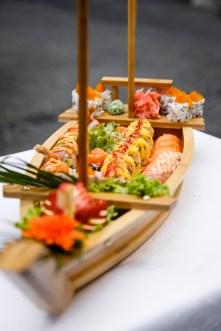 Köstliche Sushi Plate von Mr. Bin im Cafe Glockenspiel am Grazer Glockenspielplatz. (Foto Thomas Luef/LUEFLIGHT)